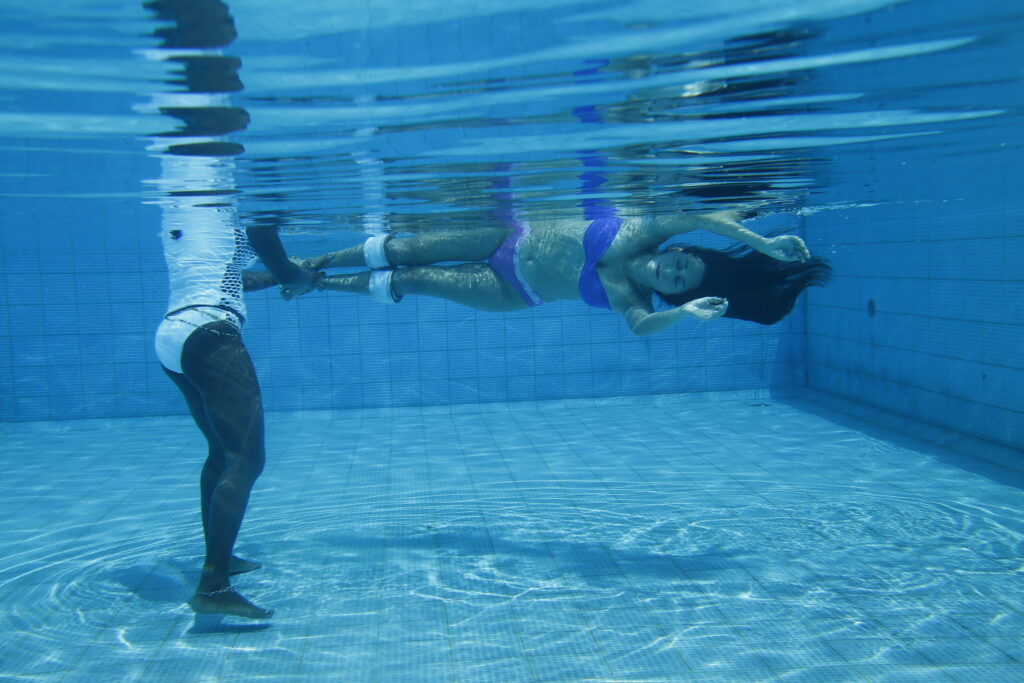 Janet Haughton Quarshie In A Watsu Water Shiatsu Session Underwater